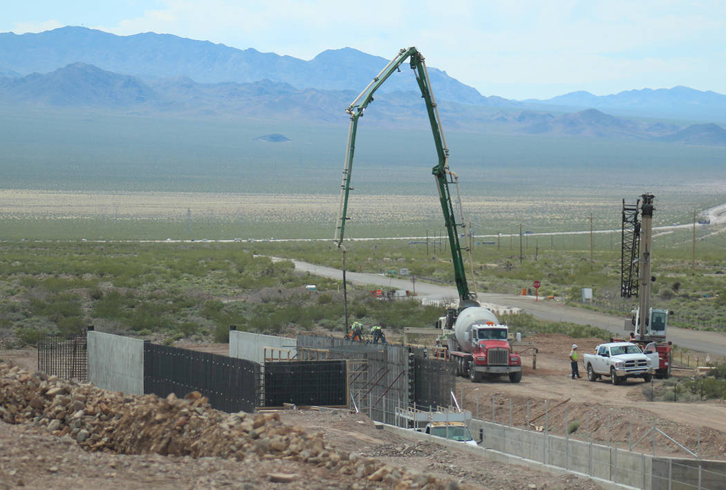 Construction continues on Interstate 1. (Nevada Department of Transportation)