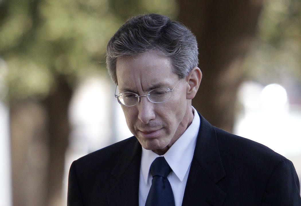In this July 28, 2011 photo, Polygamist sect leader Warren Jeffs arrives at the Tom Green County Courthouse in San Angelo, Texas. An internal struggle for control of  Jeffs' polygamous church coul ...