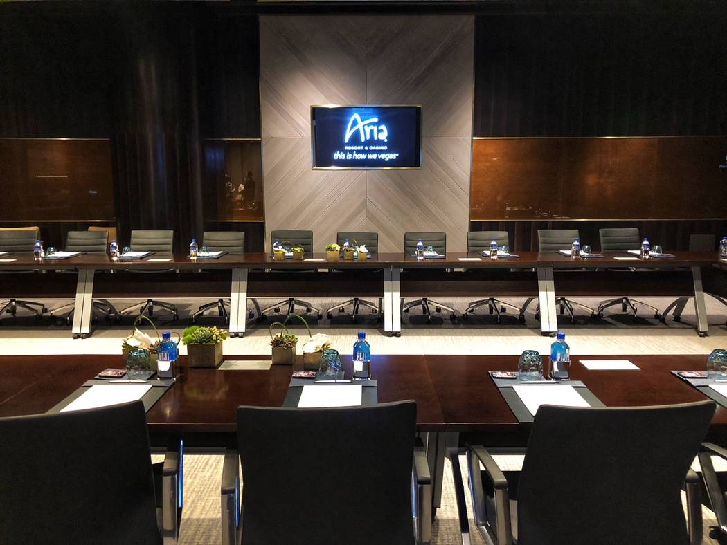 Aria East Convention Center, seen Thursday, Feb. 15, 2018, in Las Vegas, features high-end executive meeting rooms. Todd Prince/Review-Journal