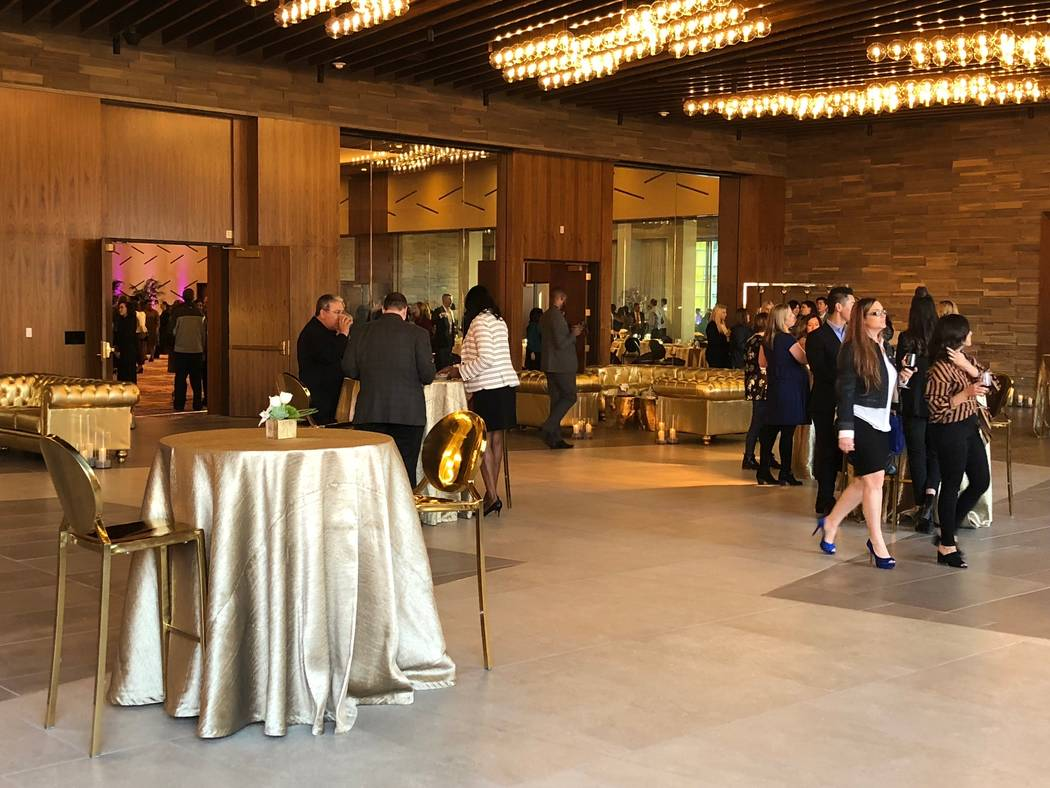 Hundreds of people attended the opening of Aria's new $170 million convention space. Todd Prince/Review-Journal
