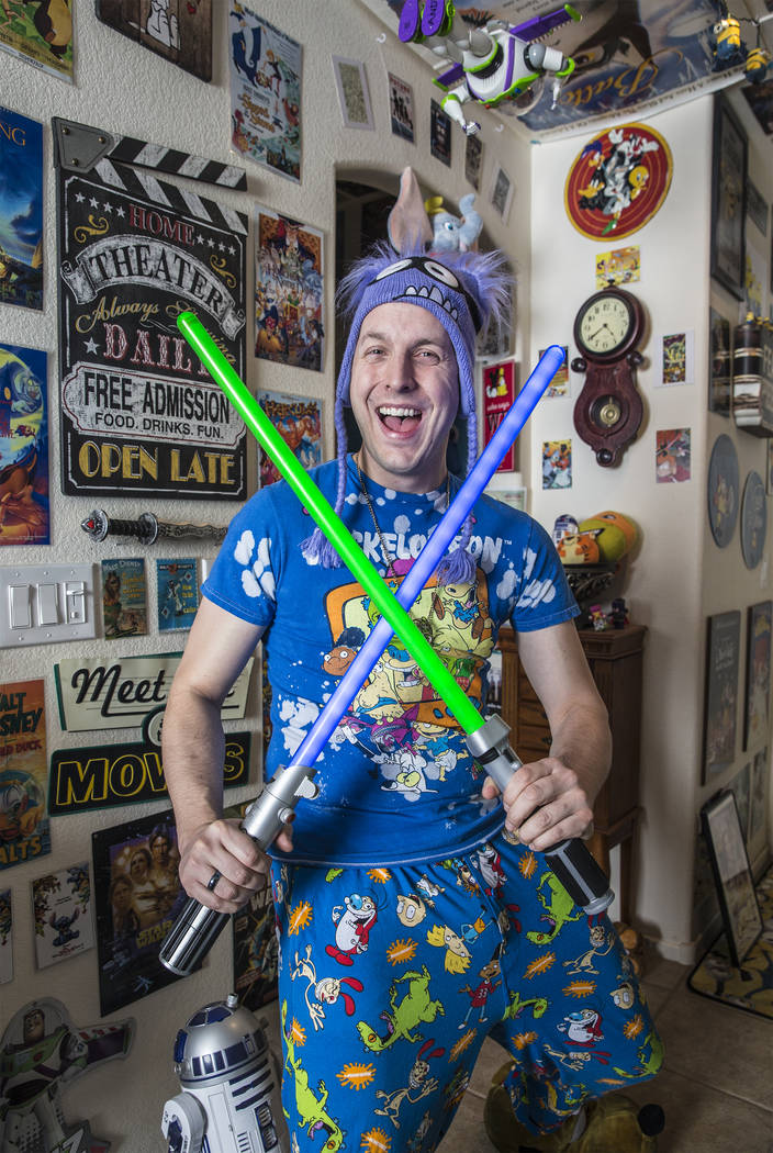 Actor Ben Stobber at his Las Vegas home on Thursday, February 15, 2018. Benjamin Hager Las Vegas Review-Journal @benjaminhphoto