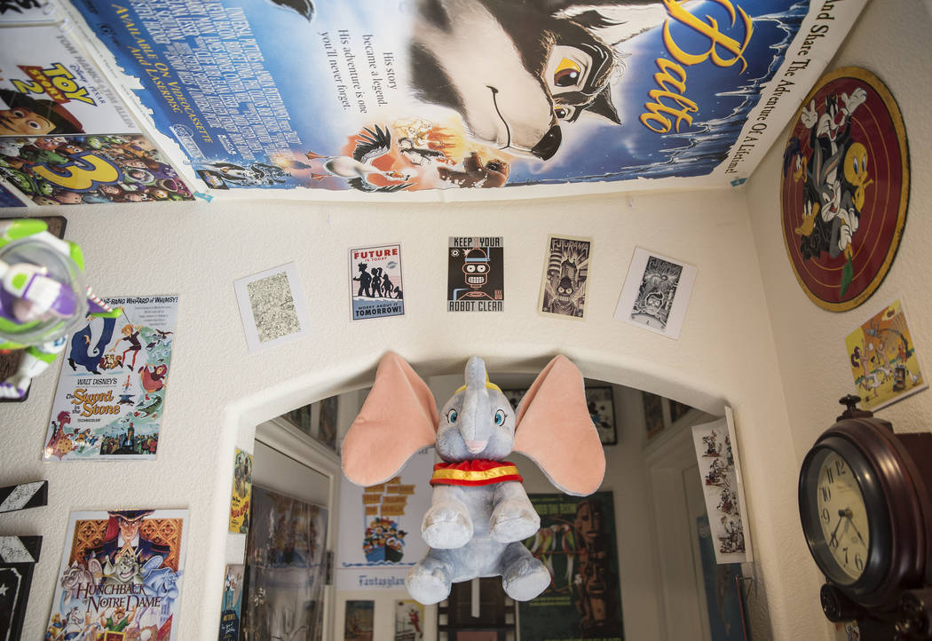 Actor Ben Stobber's Las Vegas home is covered with TV and film memorabilia. Photo taken on Thursday, February 15, 2018. Benjamin Hager Las Vegas Review-Journal @benjaminhphoto