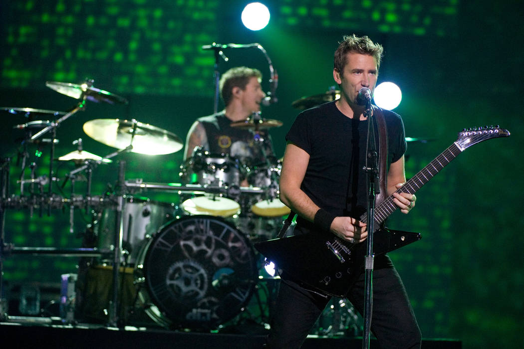 Nickelback performs at the Juno Awards on Sunday, April 1, 2012, in Ottawa, Ontario. (AP Photo/Arthur Mola)