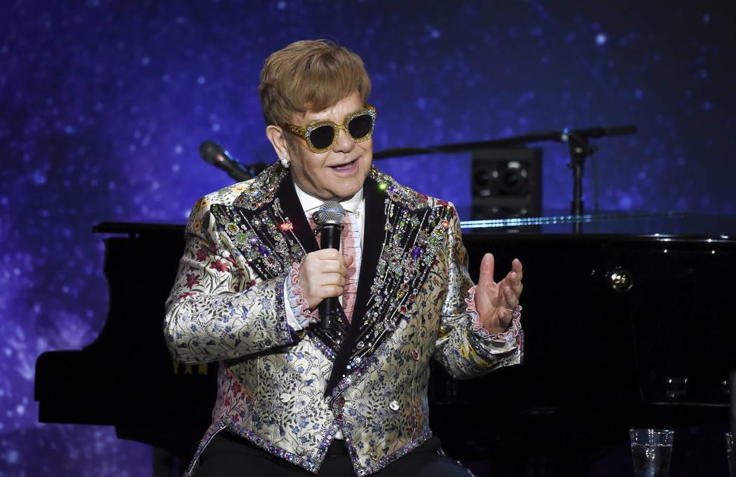 Singer Elton John announces final world tour at Gotham Hall on Wednesday, Jan. 24, 2018, in New York. (Photo by Evan Agostini/Invision/AP)