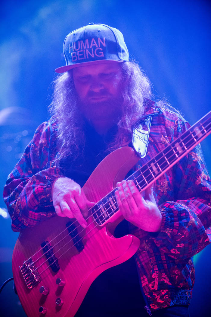 "Lettuce bassist Erick ""Jesus"" Coomes celebrates Fat Tuesday at Brooklyn Bowl. (Karl Larson/Kabik Photo Group)"