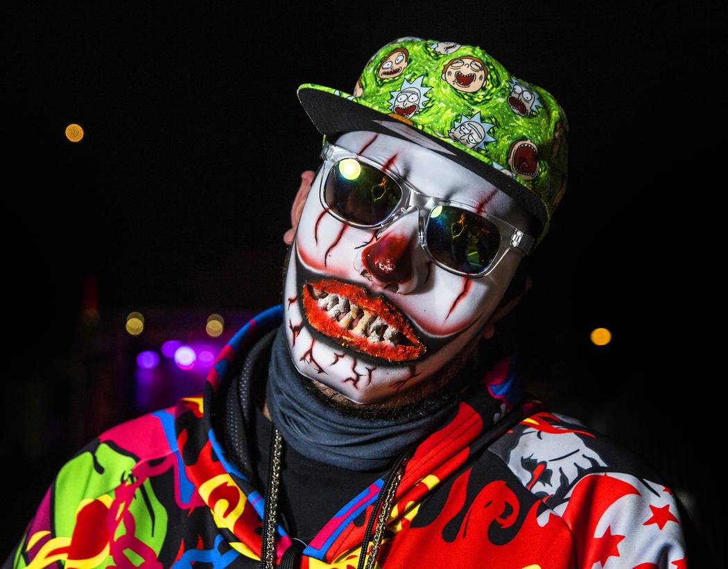 Jason Domingue, from Waxahachie, TX, at Insane Clown Posse's Juggalo Weekend on Saturday, February 17, 2018, at Fremont Country Club, in Las Vegas. Benjamin Hager Las Vegas Review-Journal @benjami ...