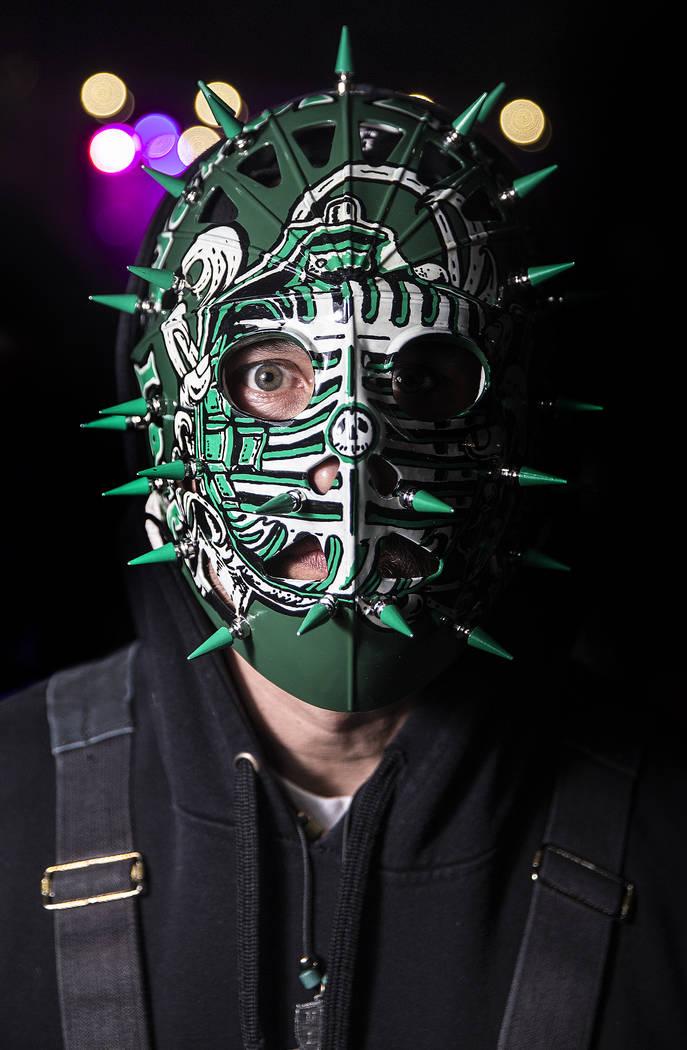 J.J. Jackson, guitarist with Las Vegas rock band NE Last Words, at Insane Clown Posse's Juggalo Weekend on Saturday, February 17, 2018, at Fremont Country Club, in Las Vegas. Benjamin Hager Las Ve ...