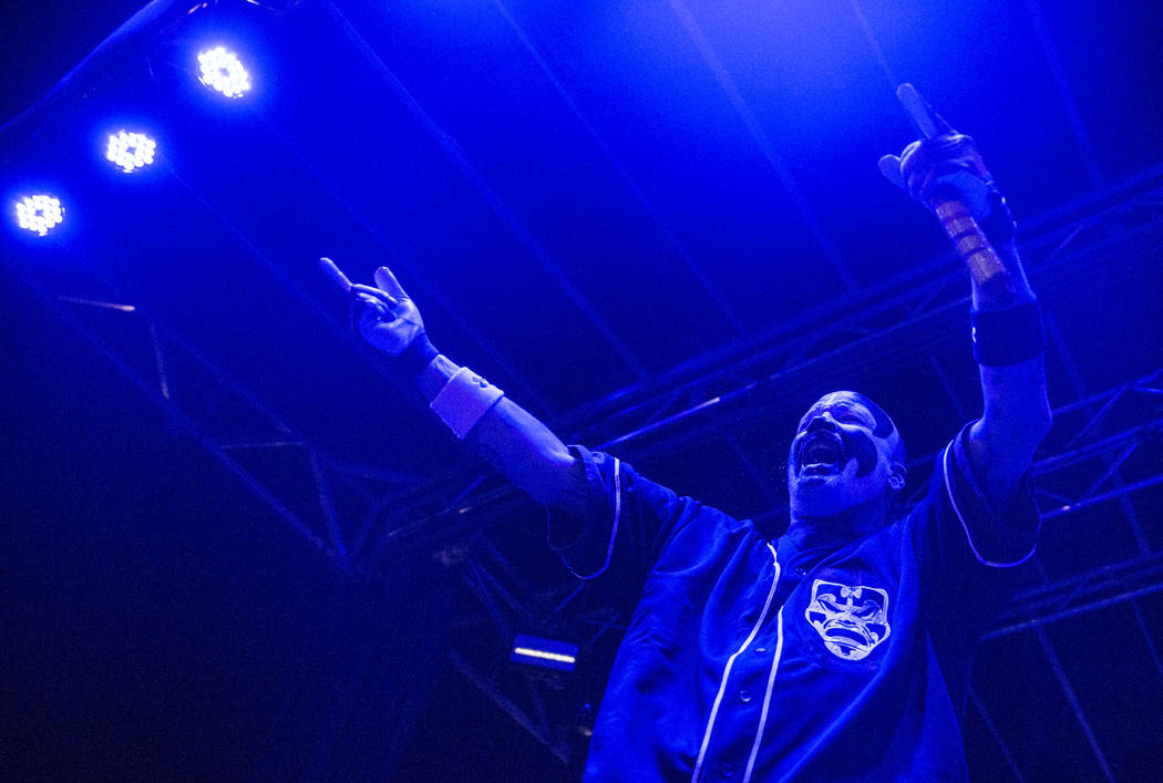 Insane Clown Posse's Violent J fires up the crowd during Juggalo Weekend on Saturday, February 17, 2018, at Fremont Country Club, in Las Vegas. Benjamin Hager Las Vegas Review-Journal @benjaminhphoto