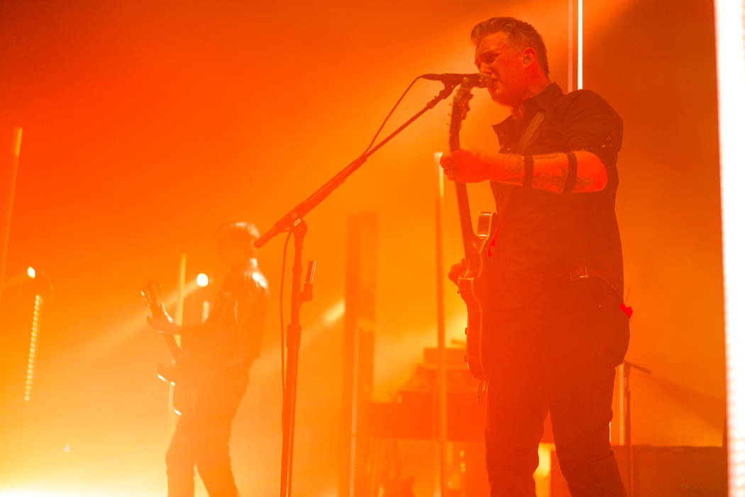 Queens of the Stone Age frontman Josh Homme performs at The Chelsea at The Cosmopolitan of Las Vegas on Friday, Feb. 16, 2018. Chase Stevens Las Vegas Review-Journal @csstevensphoto