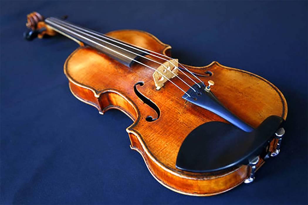 Ames Stradivarius violin. (Seth Wenig/AP)