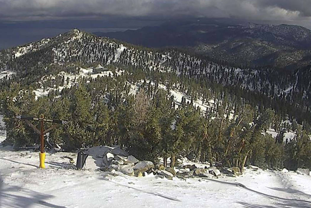 Snow is seen at Heavenly Mountain Resort in South Lake Tahoe, Calif. (Heavenly Mountain Resort via AP)