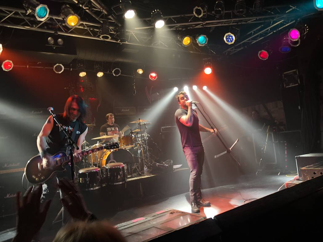 Franky Perez and the Truth are shown at Count's Vamp'd rock club on Saturday, Feb. 17, 2018. (John Katsilometes/Las Vegas Review-Journal)