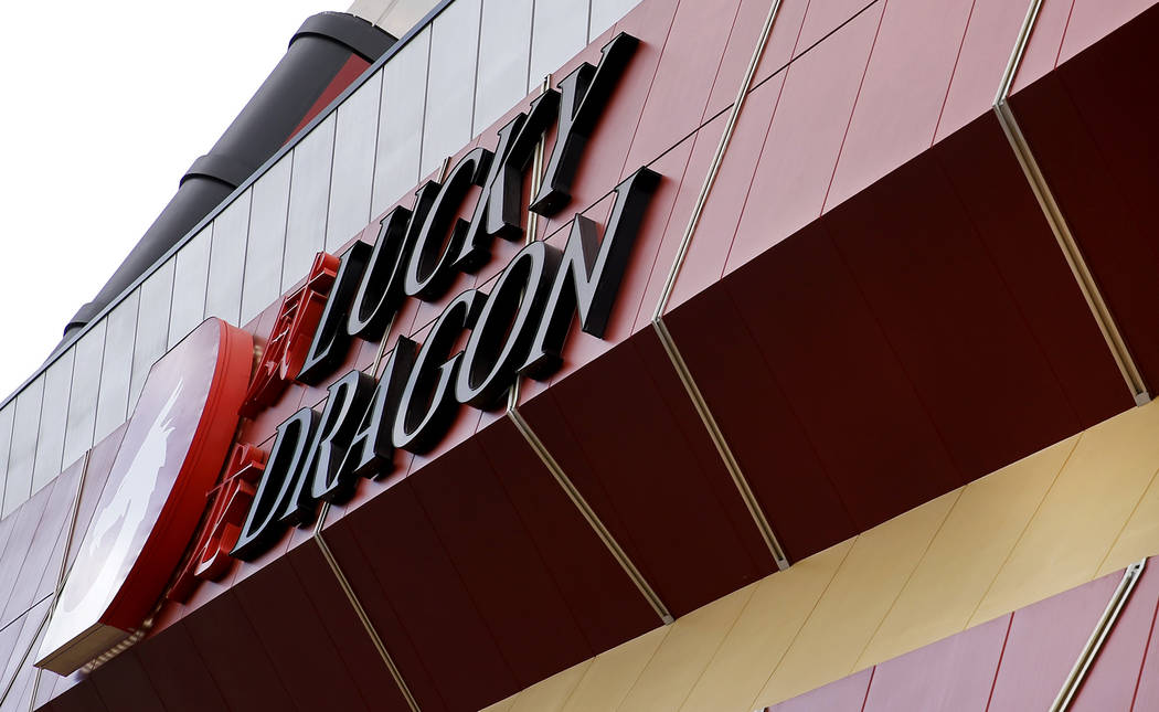 The exterior of Lucky Dragon, which shut down gaming and casino restaurant operations in early Jan., in Las Vegas on Monday, Feb. 19, 2018. Andrea Cornejo Las Vegas Review-Journal @DreaCornejo