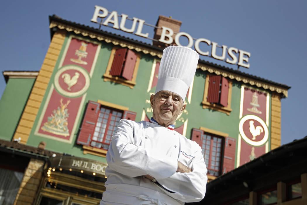 French Chef Paul Bocuse poses outside his famed L'Auberge du Pont de Collonges in Collonges-au-Mont-d'or, central France, March 24, 2011. Bocuse died Jan. 20 at 91. (Laurent Cipriani/AP, File)