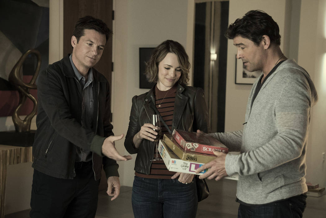 "Jason Bateman as Max, Rachel McAdams as Annie and Kyle Chandler as Brooks in ""Game Night."" (Hopper Stone/Warner Bros. Pictures)"