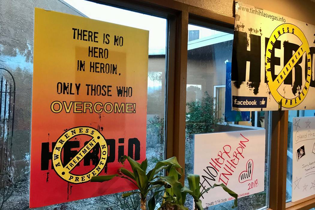 There is No Hero in Heroin Foundation's Black Monday event was held at The Salvation Army Chapel Feb. 19, 2018. (Madelyn Reese/Review-Journal) @MadelynGReese