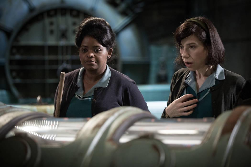"""Octavia Spencer and Sally Hawkins in the film """"The Shape of Water."""" (Kerry Hayes/2017 Twentieth Century Fox)"""