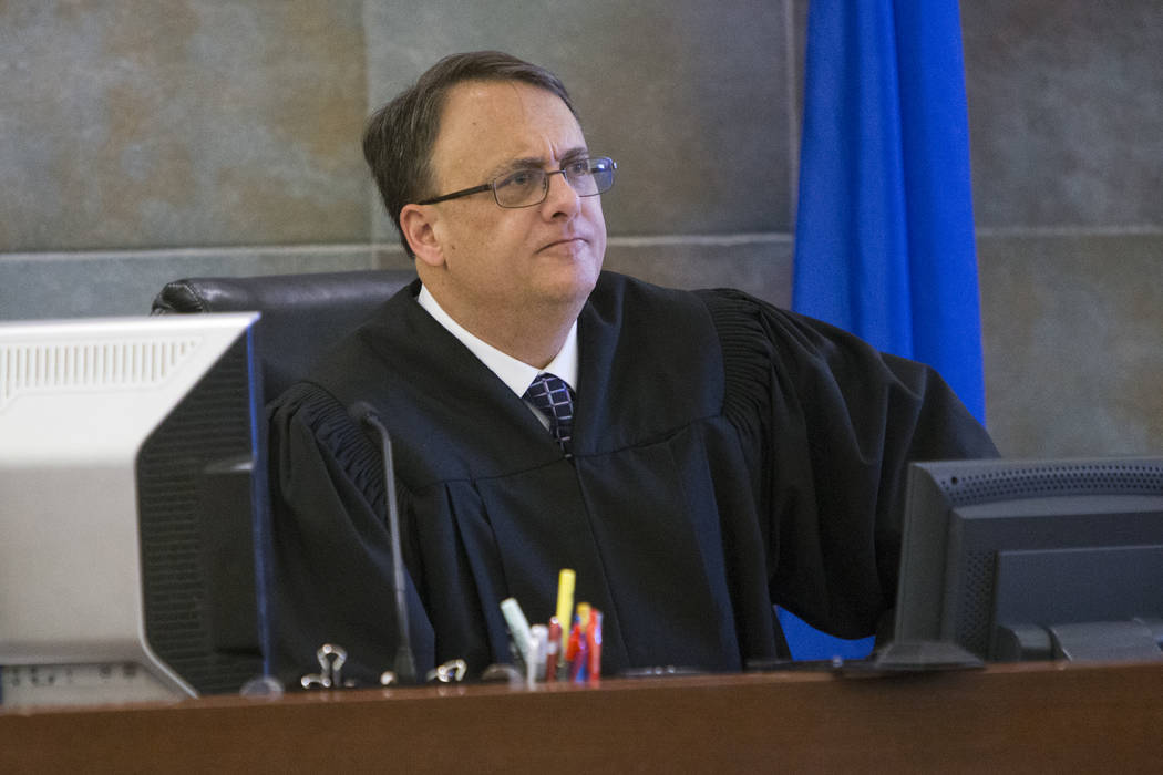 District Judge Richard Scotti at the Regional Justice Center in Las Vegas, Feb. 14, 2017. (Erik Verduzco Las Vegas Review-Journal) @Erik_Verduzco