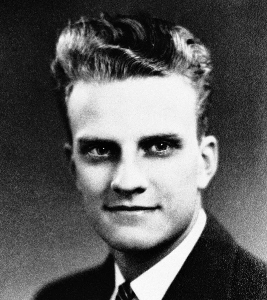 "William ""Billy"" Graham at age 17 on his graduation from Charlotte High School in June 1935. It was before his graduation from high school that Billy had embraced religion at a lo ..."