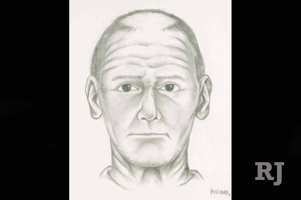 Sketch of a man suspected of trying to lure a juvenile into his vehicle earlier this month. (Las Vegas Metropolitan Police Department)