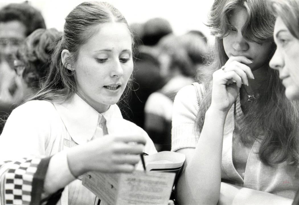 Rev. Billy Graham's evangelistic crusade visited Las Vegas in 1978. (Randy Tunnell/Las Vegas Review-Journal )