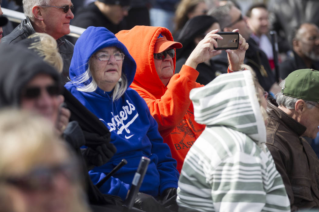 People attend the groundbreaking ceremony for the Las Vegas 51s future stadium in Summerlin, Las Vegas, Friday, Feb. 23, 2018. Erik Verduzco Las Vegas Review-Journal @Erik_Verduzco