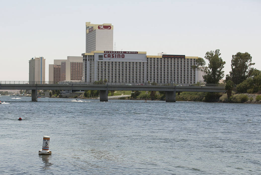The Colorado River and Laughlin, seen in 2016. (Las Vegas Review-Journal)