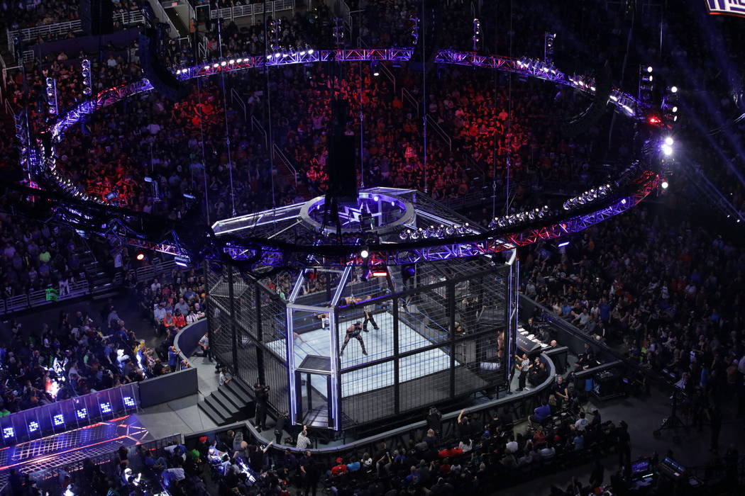 WWE's pay-per-view event Elimination Chamber takes place Sunday at T-Mobile Arena. (Courtesy of WWE)