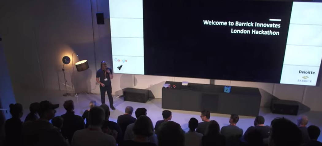 Barrick Gold Corp.  hosted a hackathon in London, Friday, Nov. 24, 2017. Barrick Gold Corp.