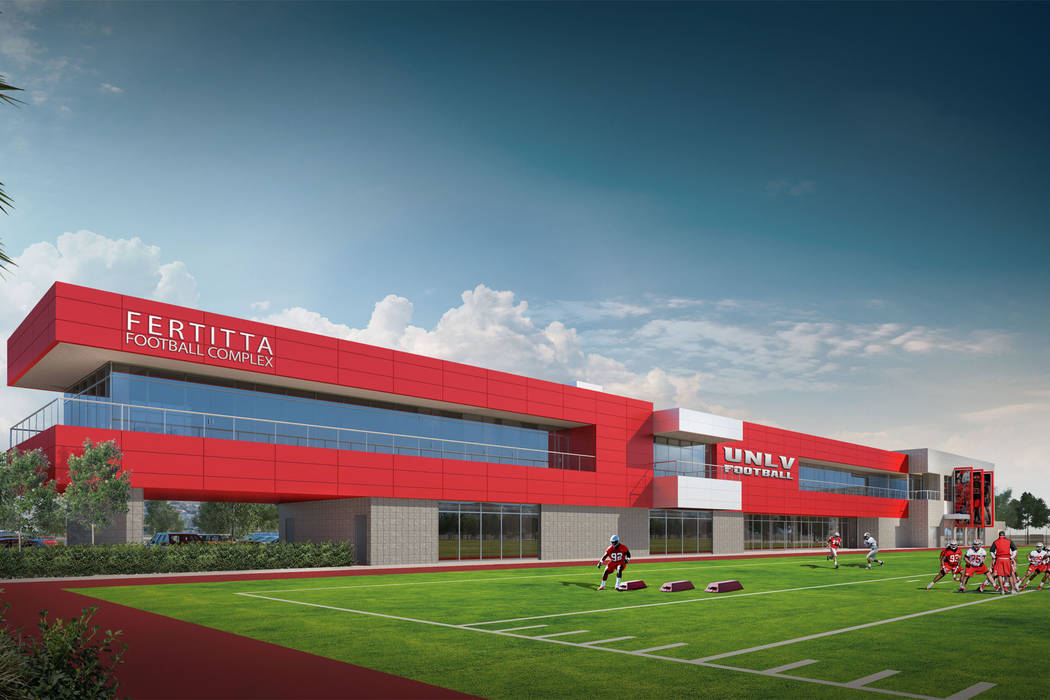 This is a handout rendering of the Fertitta Football Complex. (UNLV).