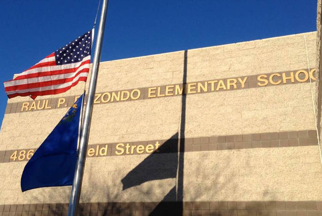 Raul Elizondo Elementary School in North Las Vegas (Las Vegas Review-Journal)