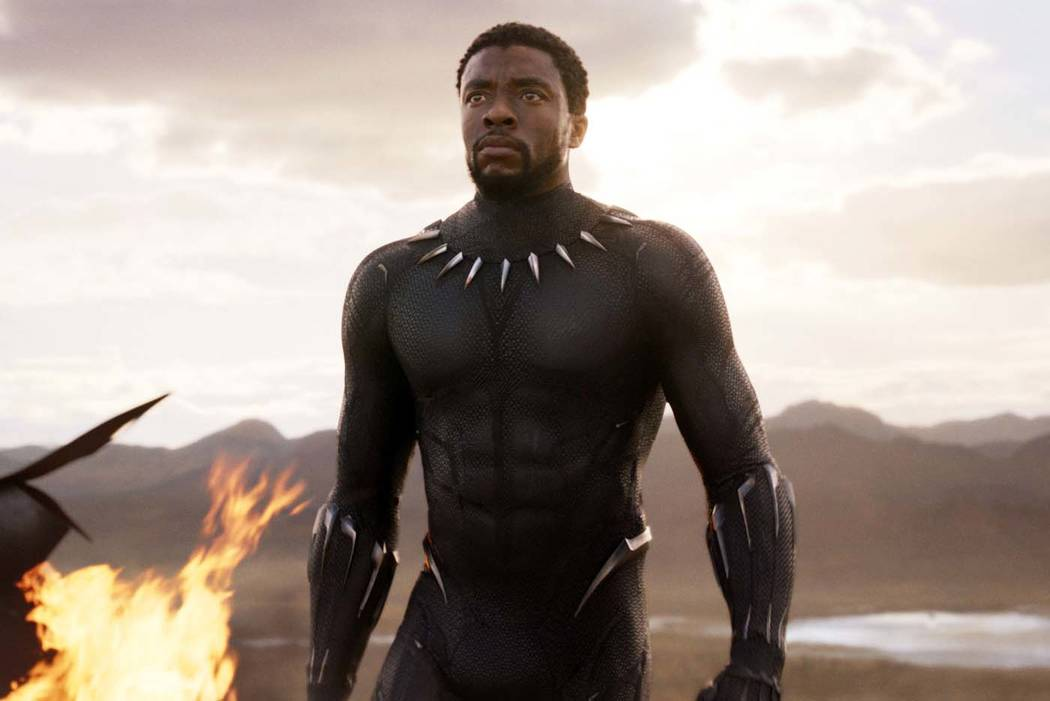 "Chadwick Boseman in a scene from ""Black Panther."" (Marvel Studios/Disney via AP)"