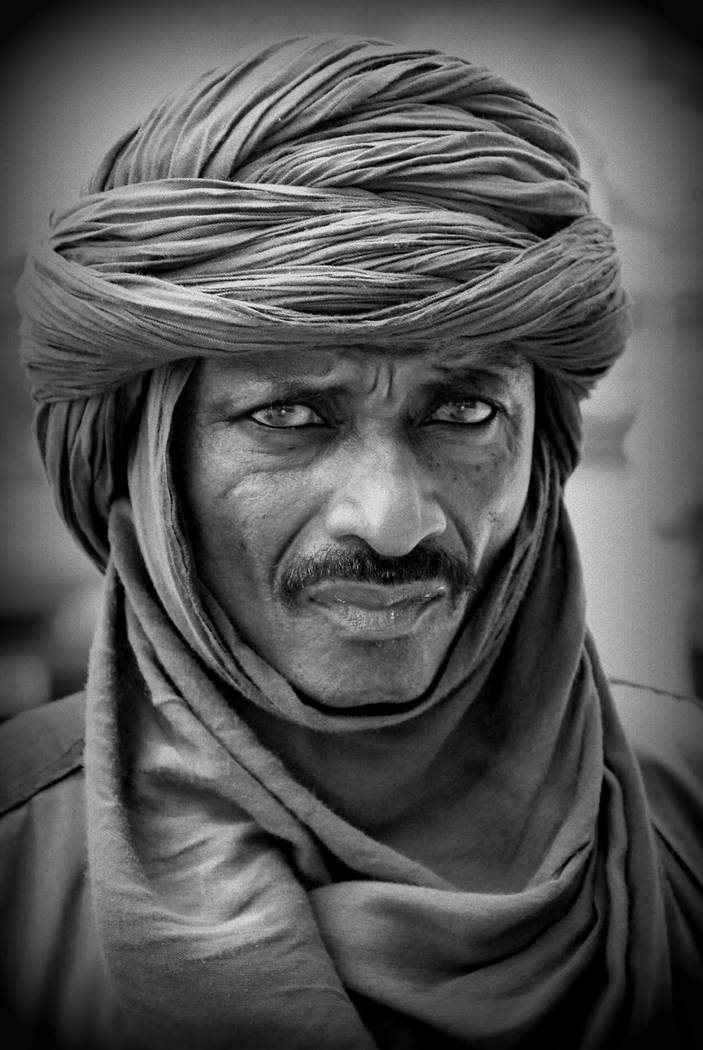 "One of photographer Lamar Marchese's ""Global Villagers,"" on display at Sahara West Library Feb. 22-April 29."