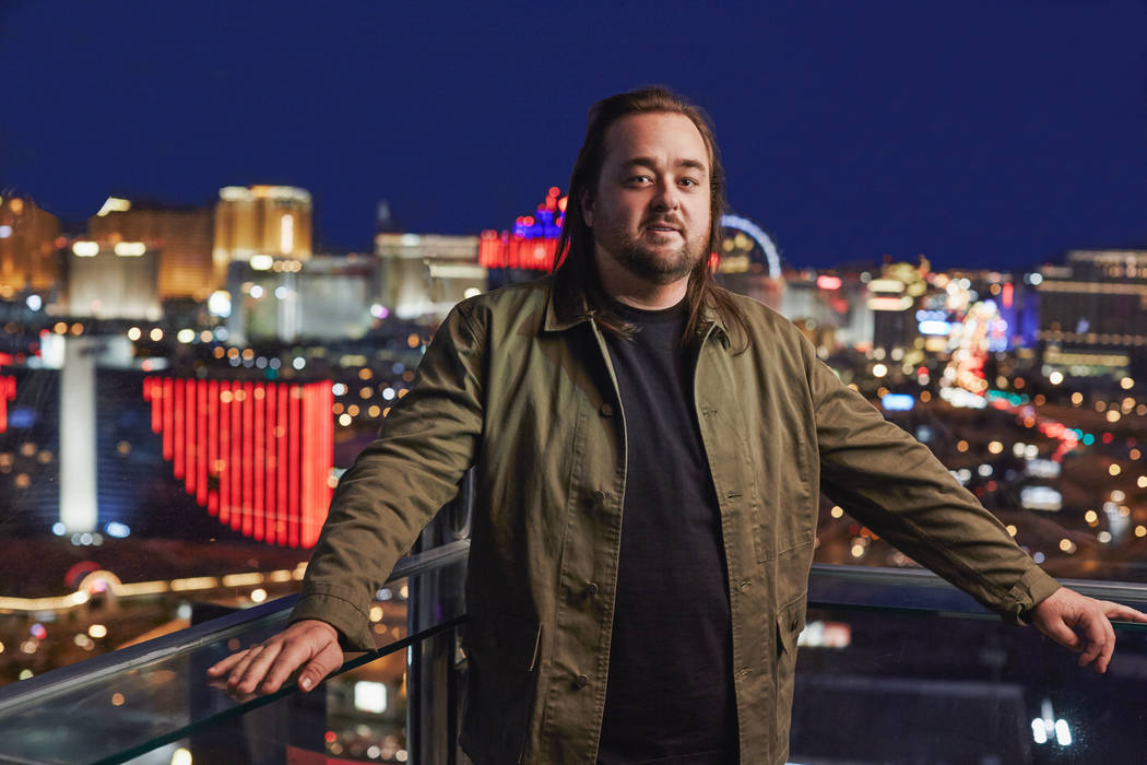 "Austin ""Chumlee"" Russell of ""Pawn Stars,"" seen in 2014 (History)"