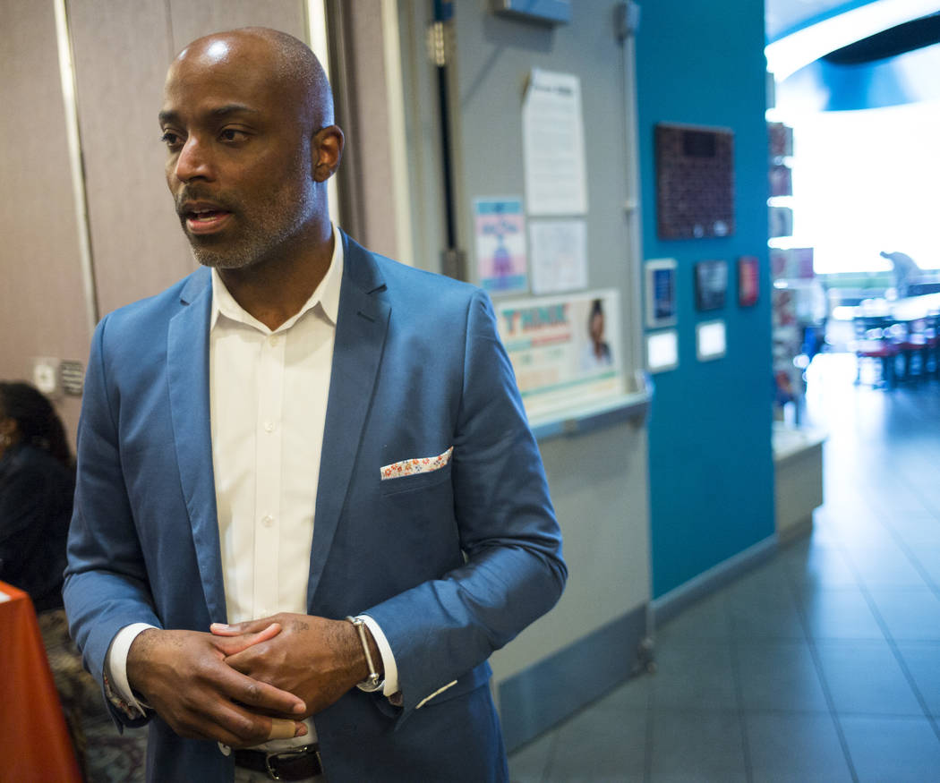 Andre Wade, executive director of The Center, also known as the Gay and Lesbian Community Center of Southern Nevada, in Las Vegas on Thursday, Feb. 22, 2018. Chase Stevens Las Vegas Review-Journal ...