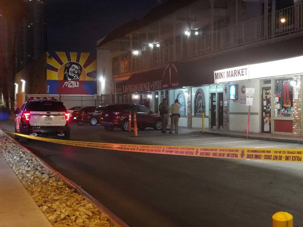 One person was wounded Friday morning in a shooting at the Las Vegas Lounge, 600 E Karen Ave. (Max Michor/Las Vegas Review-Journal)