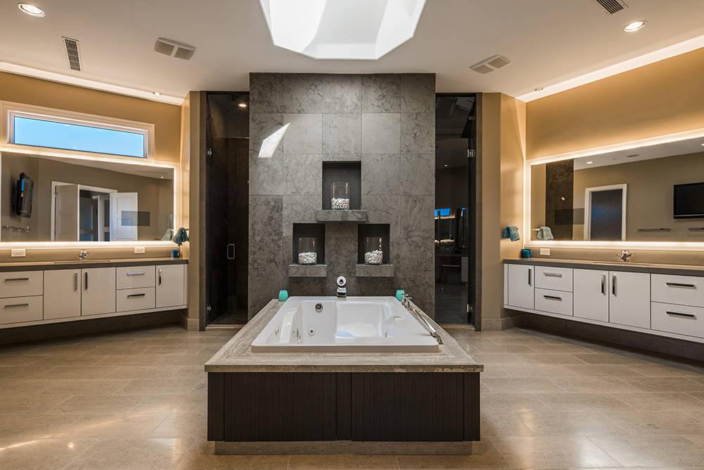 The master bath has a modern design. (Shapiro & Sher Group)