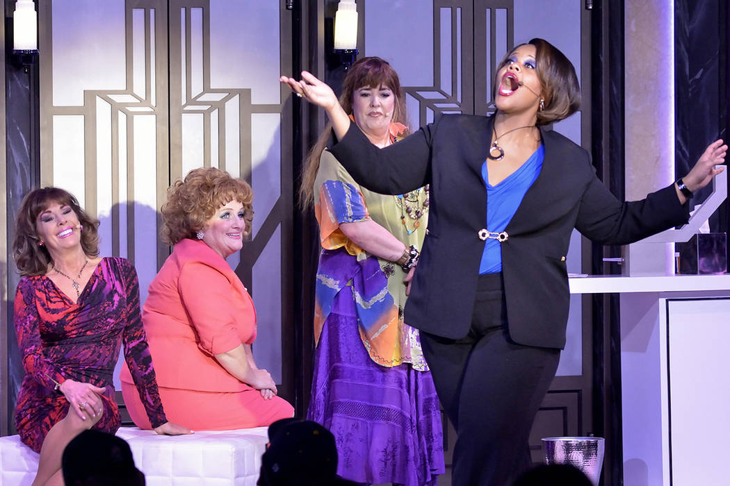 """Cast members, from left, Paige O'Hara, Laura Lee O'Connell, Vita Corimbi and Lisa Mack perform in """"Menopause The Musical"""" at The Improv in Harrah's hotel-casino at 3475 Las Vegas ..."""