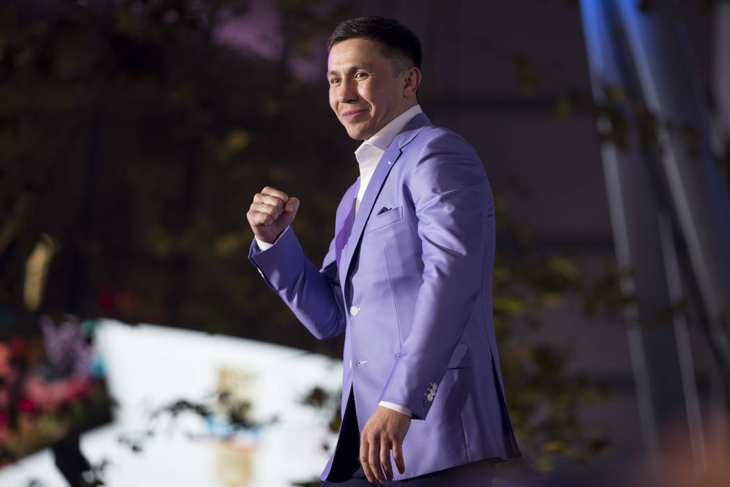 "Gennady Golovkin during a press conference for his upcoming fight against Saul ""Canelo"" Alvarez, at Microsoft Square in Los Angeles, Calif., Tuesday, Feb. 27, 2018. Erik Verduzco Las Veg ..."