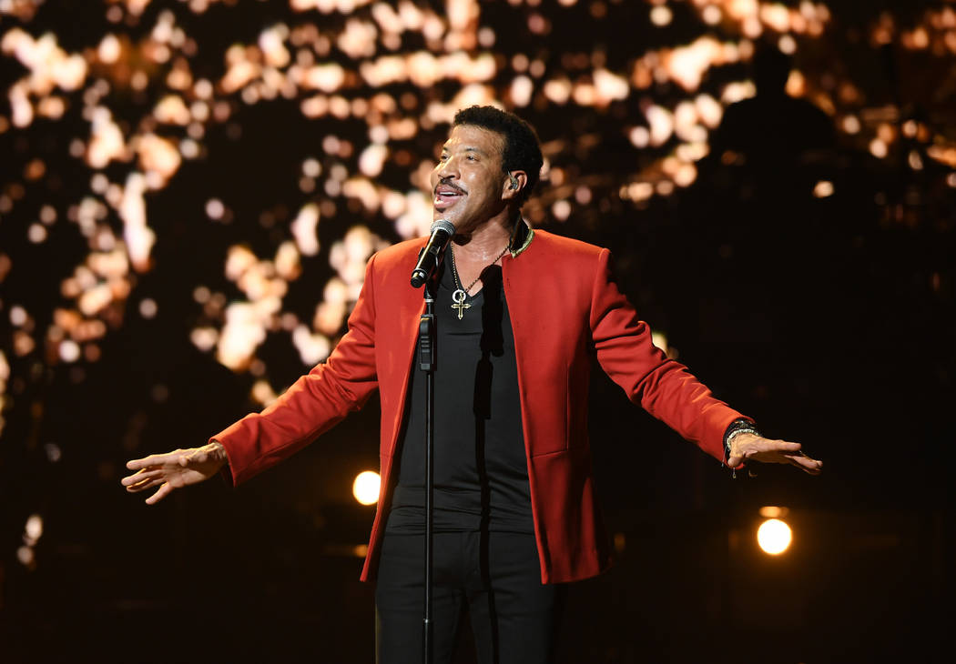 Lionel Richie is shown at Axis theater at Planet Hollywood on April 27, 2016. (Denise Truscello)