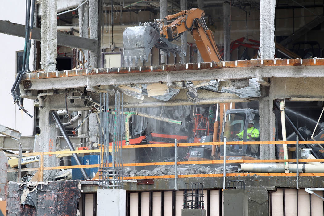 Demolition and construction continue on the new pool club and nightclub at the Palms Tuesday, Feb. 27, 2018. The venues will be operated in partnership with Tao Group. K.M. Cannon Las Vegas Review ...