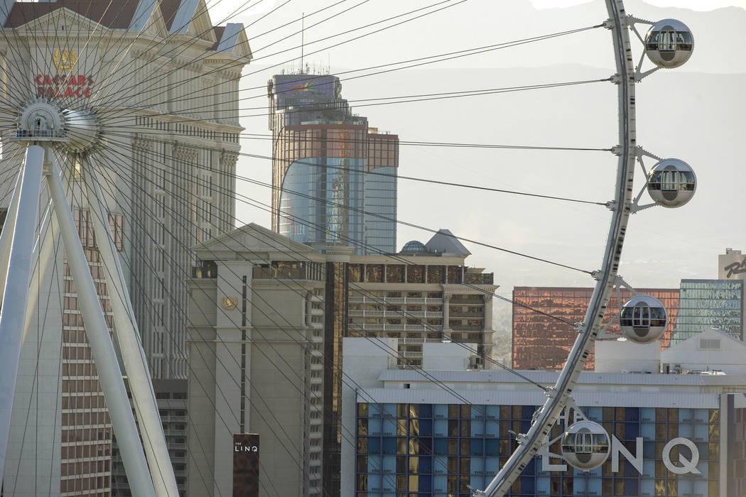 The Las Vegas Strip on Friday, Feb. 16, 2018. Richard Brian Las Vegas Review-Journal @vegasphotograph