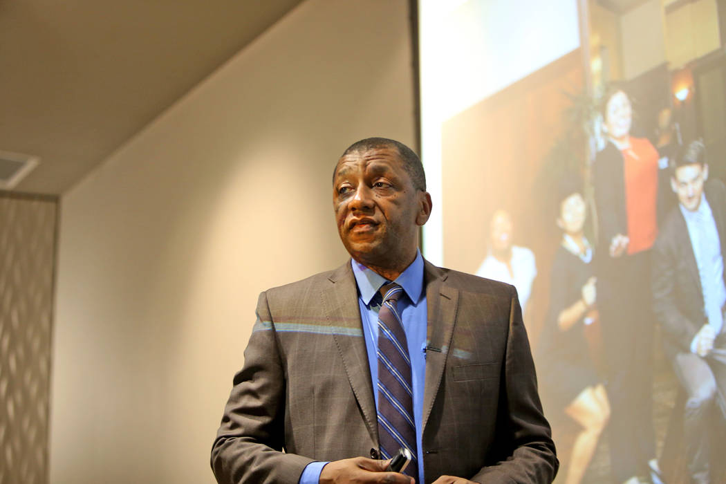 Dr. Howard Stevenson, the Constance Clayton Professor of Urban Education and professor of Africana studies at the University of Pennsylvania, speaks to attendees about racial literacy at the Colle ...