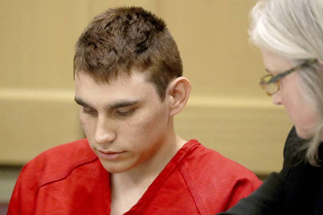 In this Feb. 19, 2018 file photo, Nikolas Cruz appears in court on Feb. 19, 2018.  A hearing scheduled for Feb. 27, 2018, was removed from the court docket without explanation. (Mike Stocker/South ...