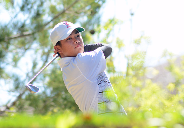 Golfer Shintaro Ban in action for UNLV at the Southern Highlands Collegiate on March 8, 2016 at Southern Highlands Golf Club.  (Courtesy/UNLV)
