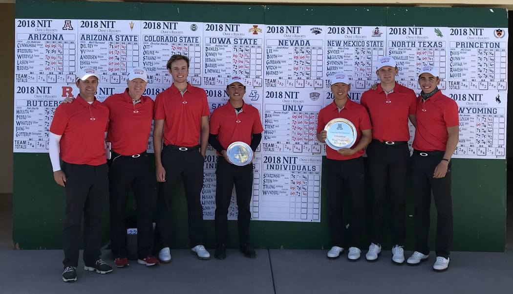 The UNLV men's golf team won the National Invitational Tournament in Tucson on Monday and senior Shintaro Ban was the individual champion. The Rebels home event is Monday thru Wednesday at Souther ...