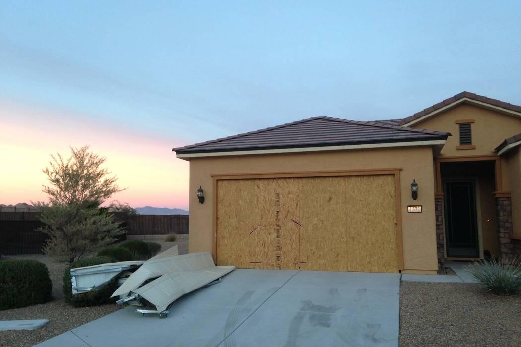Las Vegas Strip gunman Stephen Paddock's house in Mesquite is seen on Monday, Nov. 13, 2017. (Eli Segall/Las Vegas Review-Journal)