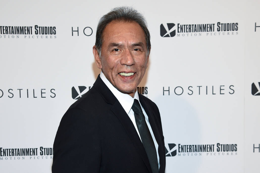"Actor Wes Studi attends a Dec. 18, 2017, screening of ""Hostiles"" in New York. Studi, whose credits include ""Avatar,"" ""The Last of the Mohicans"" and ""Dances with Wolves,"" will take the  ..."