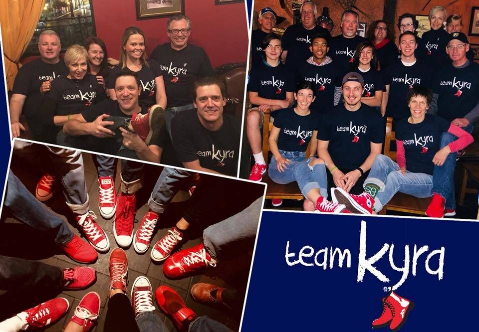 A montage of Team Kyra, which is supporting Lynn McMullan's St. Baldrick's Foundation shave-a-thon Saturday at McMullan's Irish Pub. (Lynn McMullan)