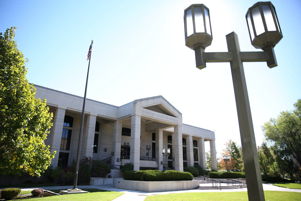 The Nevada Supreme Court building. (David Guzman/Las Vegas Review-Journal Follow @davidguzman1985)